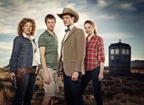 The Doctor, River, Rory and Amy