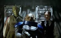 Madame Vastra, Jenny Flint and Commander Strax