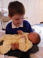 Emma meets her older brother, Thomas