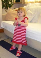 Stripy Red Dress