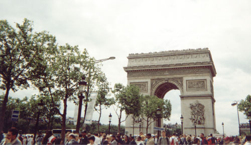 [The impressive Arc De Triumph]