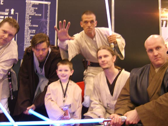 [Tom and some fellow Jedi Knights]